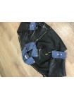 Куртки кожаные кожзам Uyilufs черная фото №3