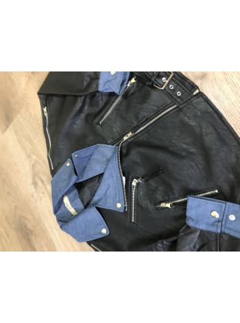 Куртки кожаные кожзам Uyilufs черная