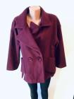 Жіноче пальто Luolita бордового і сірого кольору фото №2