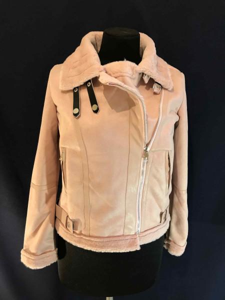 Штучна дублянка рожева Fashion brand
