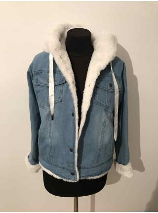 Купить джинсовую куртку с искусственным мехом женскую ⭐