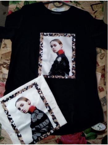 Купить футболку женскую с принтом и рисунком