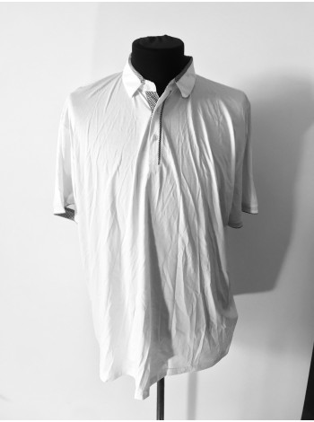 Мужская футболка поло белая Giorgio Armani