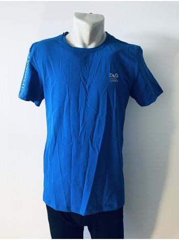 Мужская футболка синяя Dolce and Gabbana