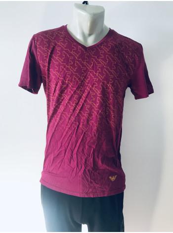 Мужская футболка Armani красная