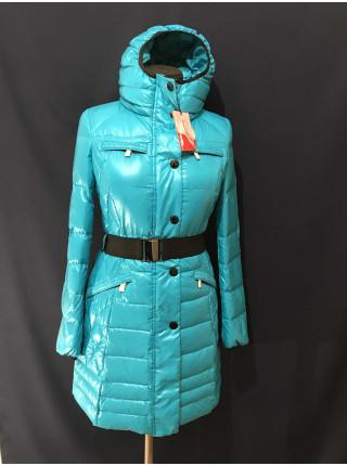 Пуховик жіночий Snowimage, кольору бірюза