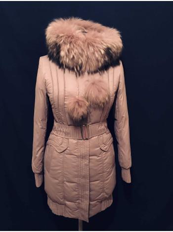 Peercat жіноча куртка на зиму з натуральним хутром