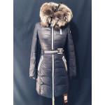 Зимова жіноча куртка з хутром чорнобурки
