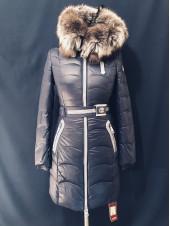 Зимова куртка з чорнобуркою на капюшоні