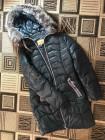 Зимний женский пуховик с мехом чернобурки фото №3