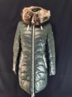 Зимний женский пуховик с мехом чернобурки на капюшоне фото №2