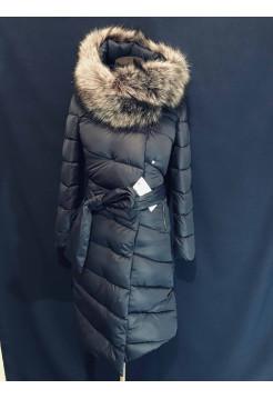 Пальто-пуховик ковдра жіноче зимове. Штучне хутро, холлофайбер