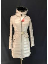 Пуховик жіночий Snowimage сірого кольору
