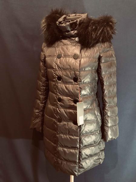 Snowimage пуховик з натуральним хутром, чорний