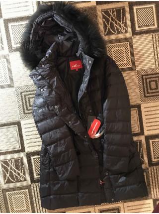 Snowimage пуховик с натуральным мехом, черный
