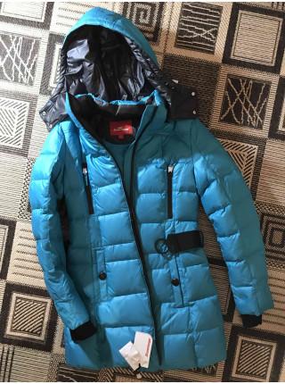 Пуховик женский Snowimage - цвет бирюза