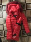 Жіночий пуховик Snowimage c натуральним хутром - червоного кольору фото №3