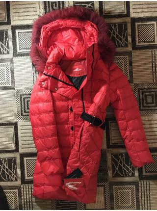 Женский пуховик Snowimage c натуральным мехом