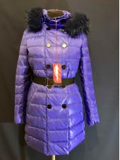 Пуховики Snowimage, купити оптом і в роздріб. 91 хутро єнота, синій
