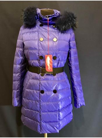 Snowimage женский пуховик с натуральным мехом енота