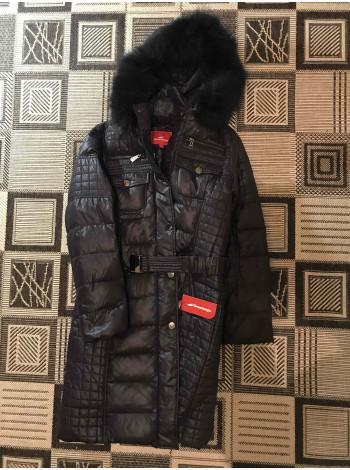 Модний жіночий зимовий пуховик Snowimage з хутром