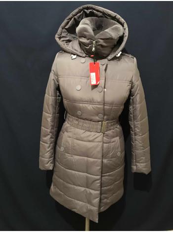 Бренд Snowimage опт або індивідуально: жіночий сірий пуховик