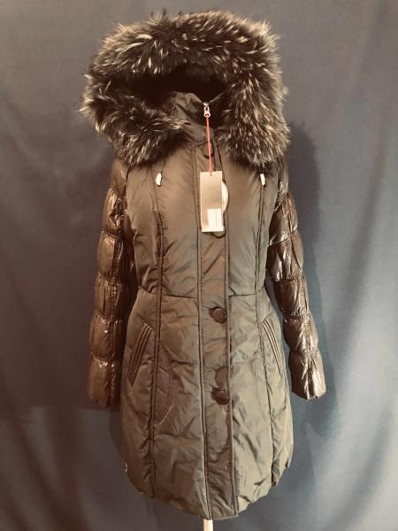 Snowimage пуховик женский с натуральным мехом