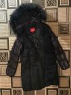 Купити пуховики Сноуімідж, натуральне хутро, чорна єнот фото №3