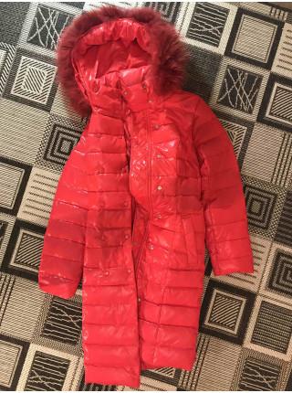 Пуховик женский зимний Snowimage с натуральным мехом