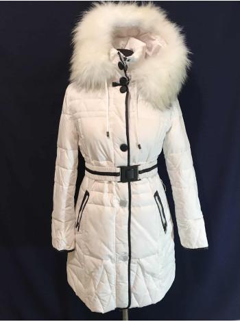 tommy женская зимняя куртка - пуховик недорого. Био-пух, натуральный мех