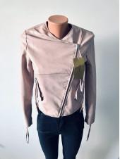 Куртки кожзам рожевого і чорного кольору AFTF basic демісезон, весна, осінь