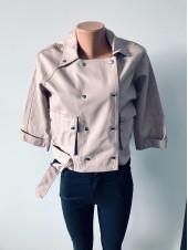Куртки шкіряні рожевого і чорного кольору кожзам AFTF basic