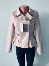 Куртки шкіряні з кожзам - AFTF basic чорна і рожевого кольору