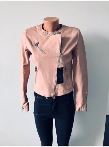 Куртки шкіряні Luka rulla чорного і рожевого кольору