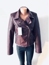 Жіноча шкіряна куртка кожзам AFTF оптом і роздріб