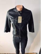 Жіноча куртка кожзам AFTF - без рукавів