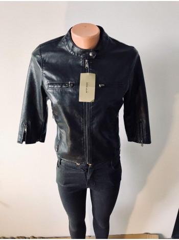 Женская куртка кожзам AFTF без рукавов