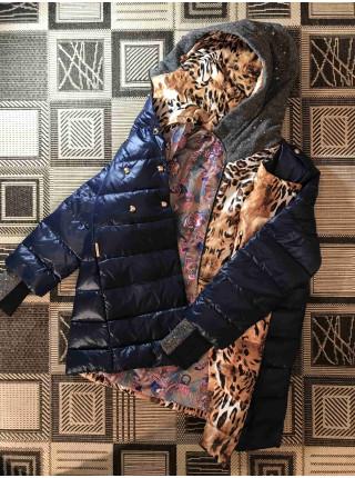 Куртка-пуховик VO TARUN цвета морской волны