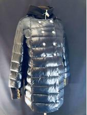 Куртка VO TARUN синяя c отстегивающимся трикотажным капюшоном