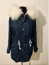 Жіноча джинсова куртка з хутром купити Київ, Україна ⭐
