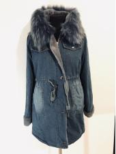 Джинсова жіноча куртка QIBM подовжена
