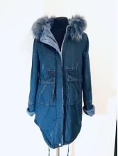 Джинсові куртки bs light зі штучним хутром