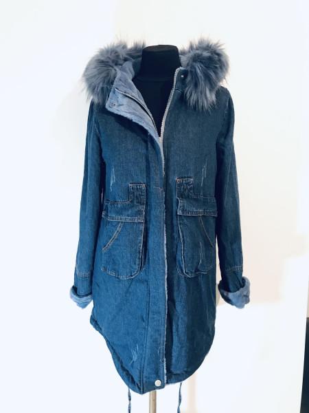 Джинсовые куртки bs light с искусственным мехом