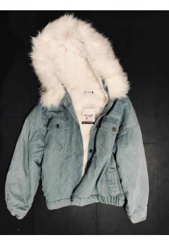 Купити джинсовку з хутром, жіночі джинсові куртки демісезон ⭐