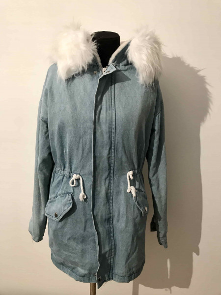 Куртка джинсовая с мехом женская купить недорого