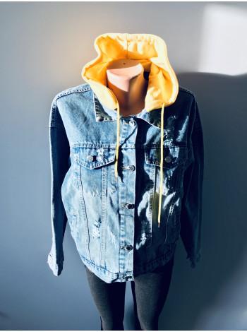 Джинсовая куртка - Fashion jeans весна, осень, демисезон