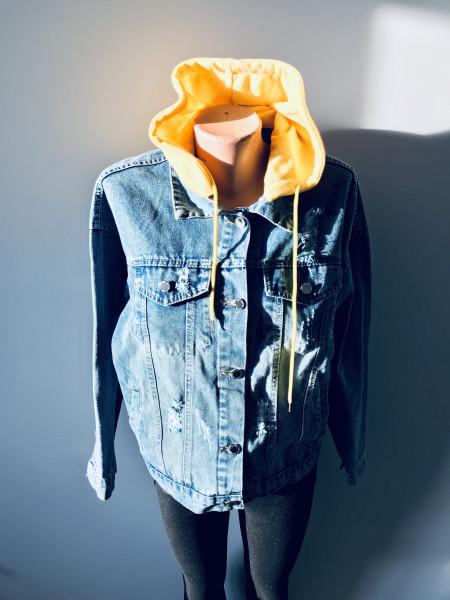 Джинсовая куртка Fashion jeans весна, осень, демисезон