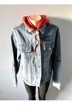 Fashion jeans джинсовая куртка весна - осень - демисезон