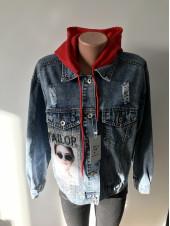 Молодіжна джинсова куртка - Encore jeans з принтом на спині