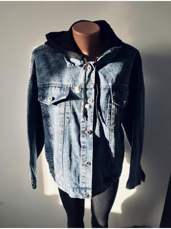 Молодежные джинсовые куртки оверсайз с принтом на спине
